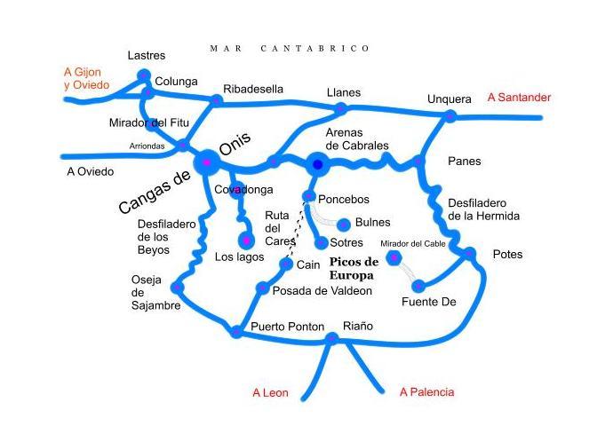 Rutas y excursiones en Cangas de Onis Covadonga y Picos de Europa